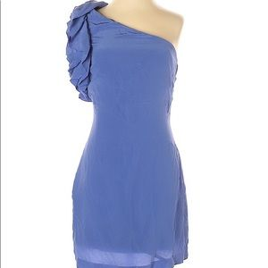 NWOT Marciano One-shoulder Silk Cocktail dress